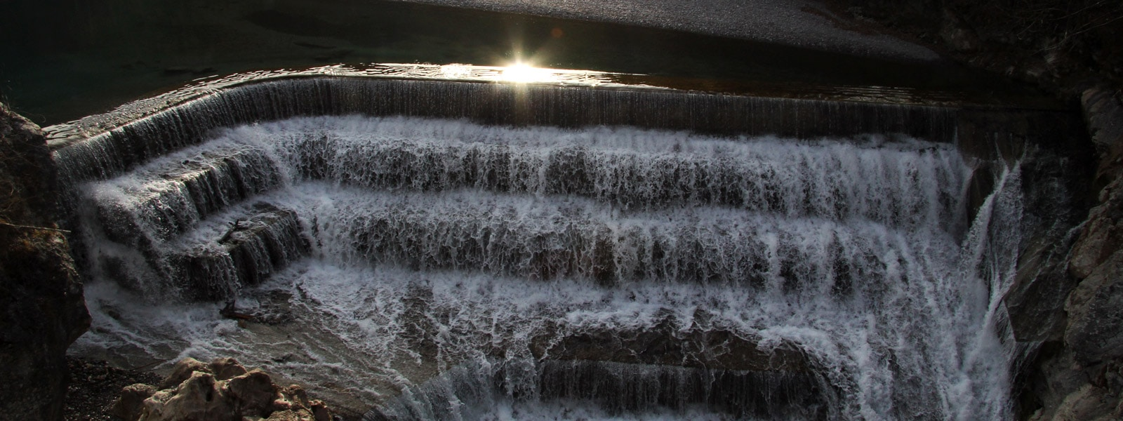 Allgäu Wasserfall Treppe